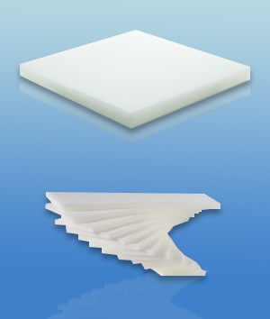 machining square cut sponge foam packaging sheets